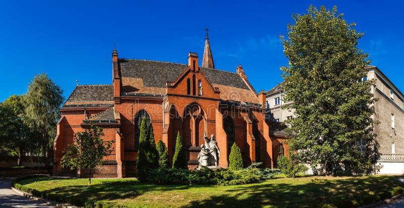 Kapell av den teologiska fakulteten i Poznan, Polen arkivbild