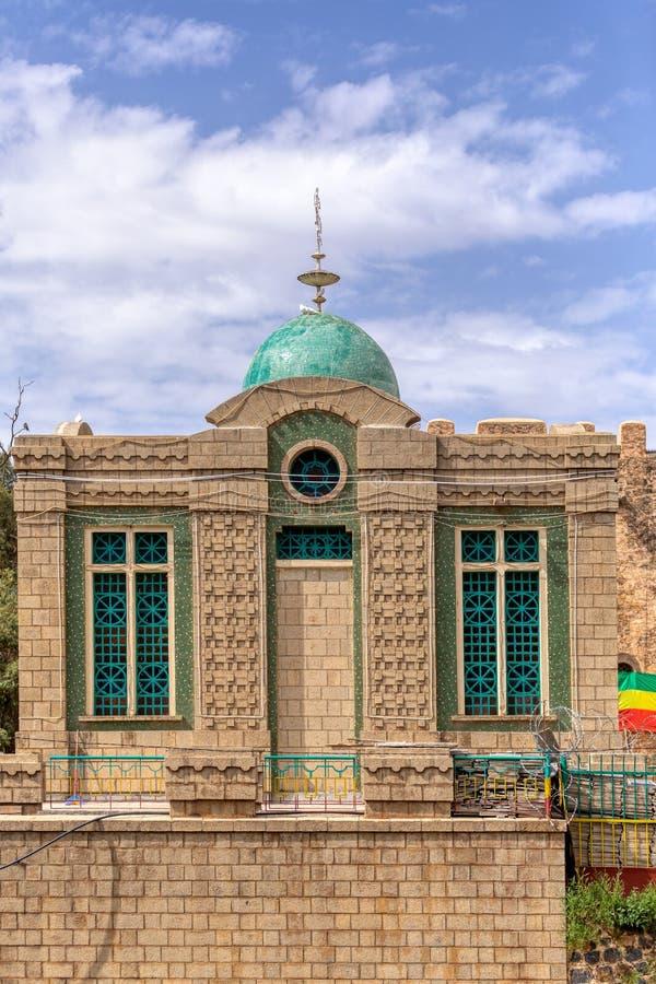 Kapell av minnestavlan Aksum Etiopien royaltyfria bilder
