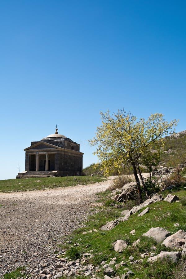 Kapell av St Francis på Tulove Grede, Kroatien arkivfoton