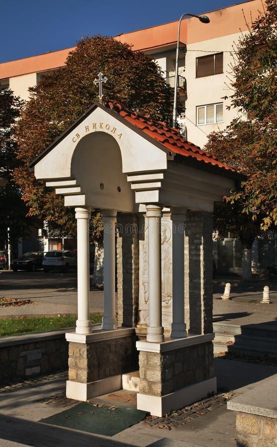 Kapell av St Nicholas i Prilep macedonia royaltyfri bild