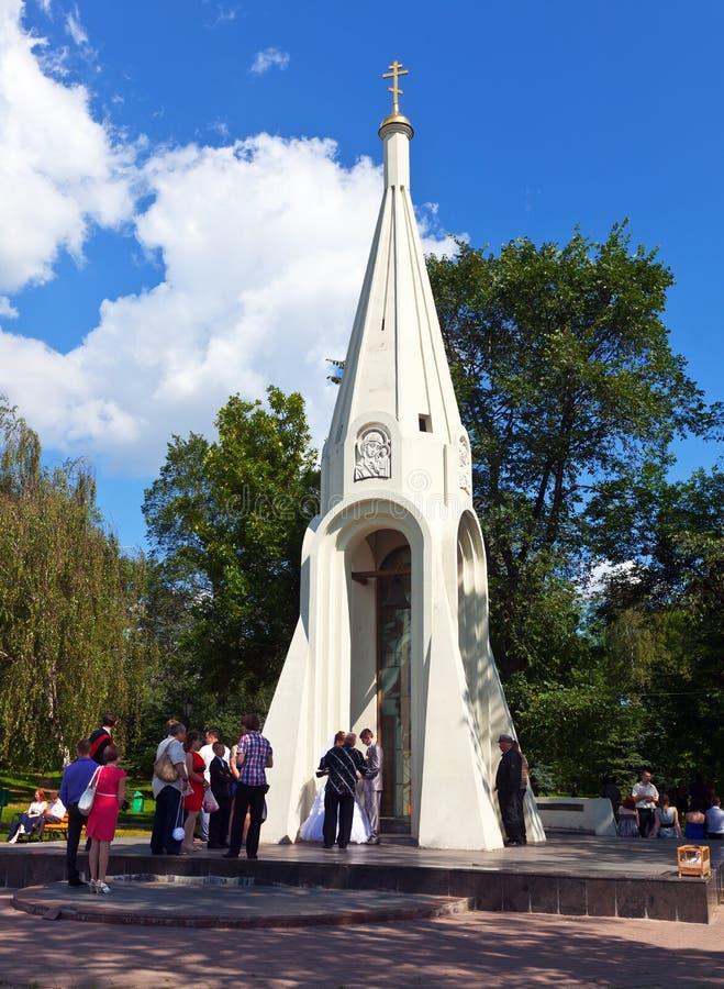 Kapell av vår Lady av Kazan i Yaroslavl arkivfoton