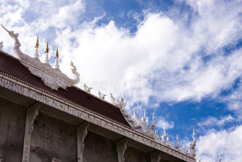 Kapell av Wat Huai Pla Kang royaltyfri fotografi