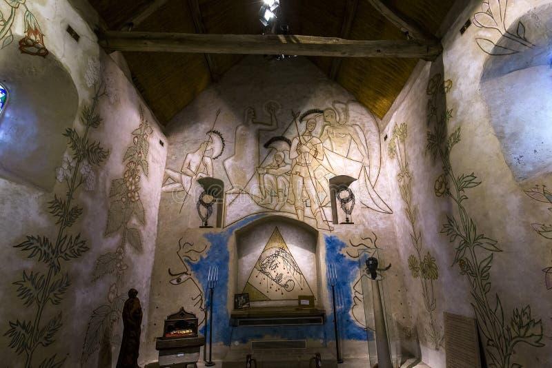 Kapell för simples för helgonblaise des, Milly laforet, Frankrike arkivbilder