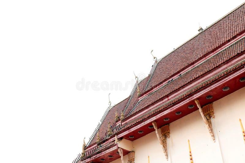 Kapell gammalt tak för tempel, tegelplattatak arkivfoto