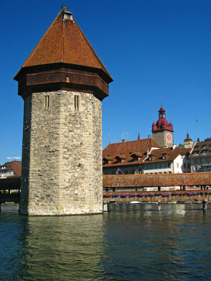 kapellbrucke obraz stock
