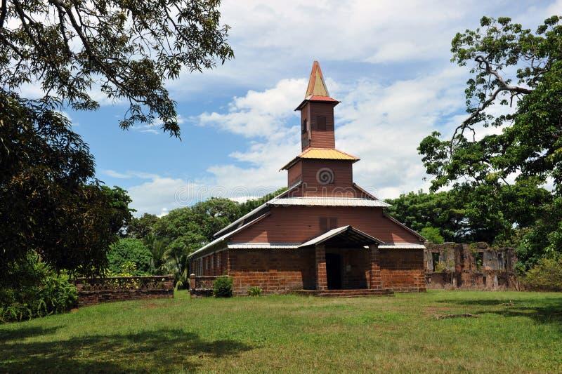 Kapelle auf Insel Royale, Guayana-Rettung isl lizenzfreies stockbild