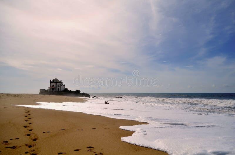Kapelle auf Miramar-Strand stockbilder