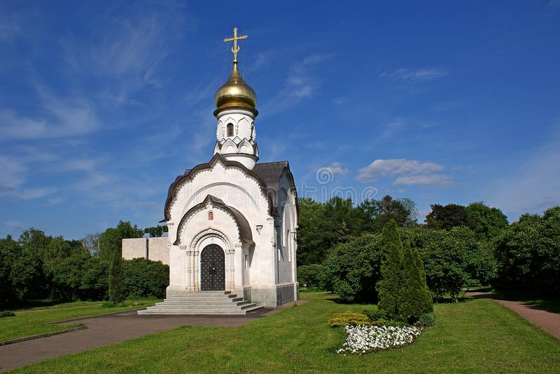 Kapelle auf VDNKh Moskau stockbilder