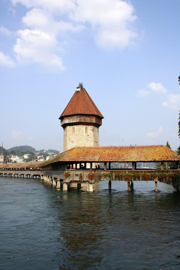 Kapelle-Brücke in Luzerne lizenzfreies stockfoto