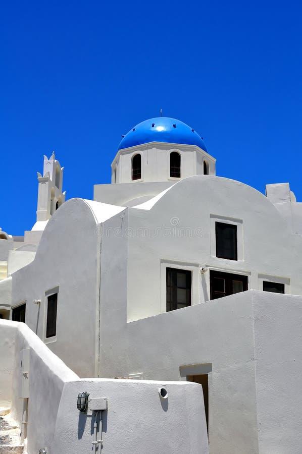 Kapelle in der Santorini Insel lizenzfreies stockfoto