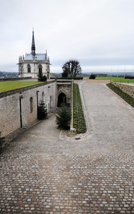 Kapelle des Heiligen Hubert (Frankreich) stockbild
