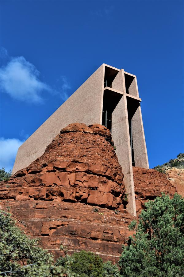Kapelle des heiligen Kreuzes, Sedona, Arizona, Vereinigte Staaten stockbilder