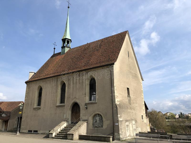 Kapelle St Sebastian, Stad van Baden stock foto