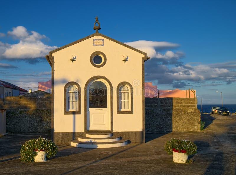 Kapelle in Stadt Ponta Delgada, Sao-Miguel-Insel, Azoren, Portuga stockfoto