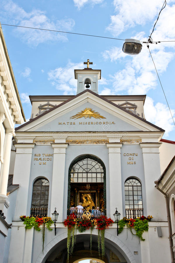 Kapelle unserer Dame des Tors von Dämmerung, Vilnius lizenzfreie stockbilder