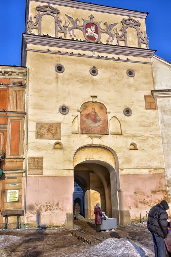 Kapelle unserer Dame des Tors von Dämmerung, Vilnius stockfoto