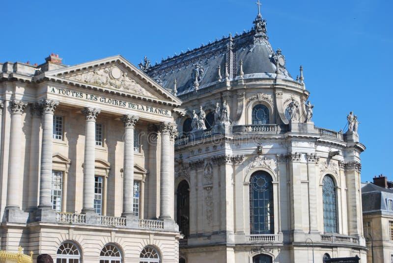 Kapelle in Versailles von der Rückseite stockfotos