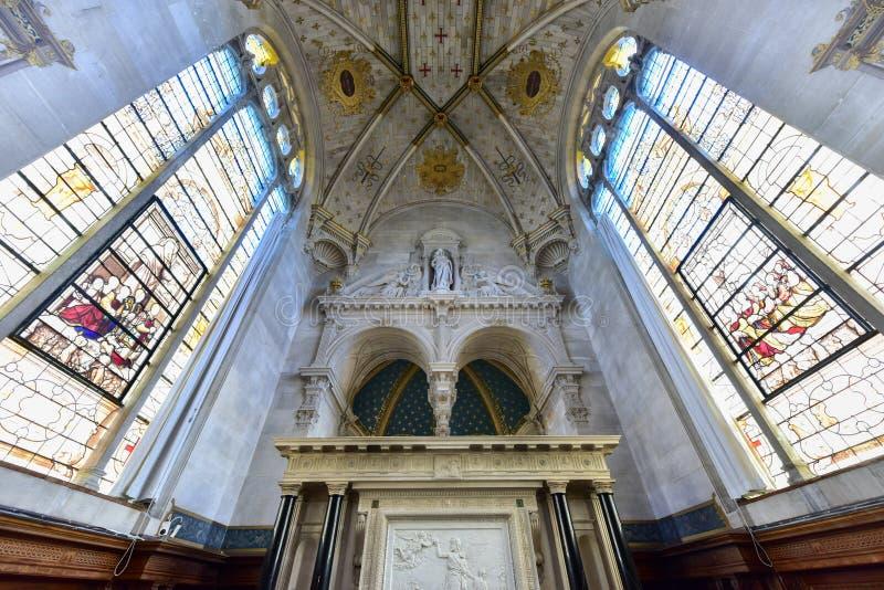 Kapelle von Chantily, Frankreich stockbilder