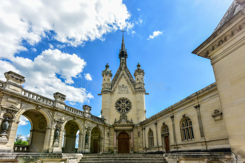 Kapelle von Chantily, Frankreich lizenzfreies stockfoto