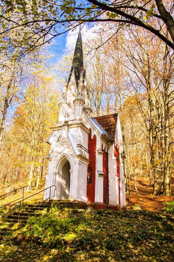 Kapelle von Laska - kleine Badekurortstadt in West-Böhmen - Marianske Lazne Marienbad - Tschechische Republik stockfoto