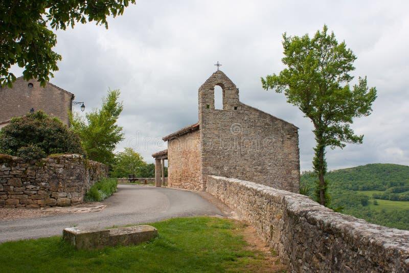 Kapelle von Puycelsi stockbild