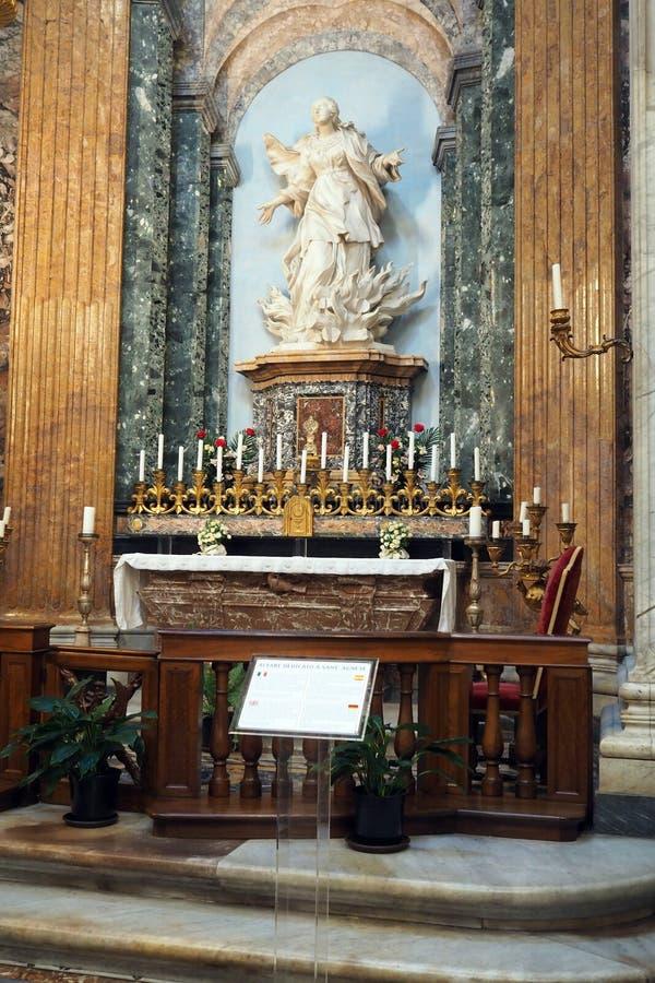 Kapelle von Sant 'Agnese in Rom, Italien stockbild