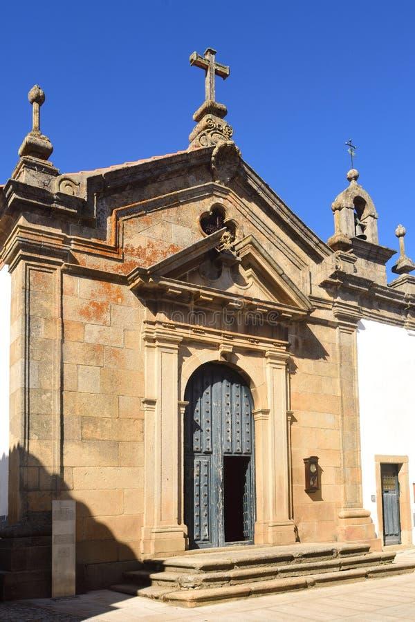 Kapelle von Santa Cruz, Miranda tun Duero, Portugal lizenzfreies stockfoto