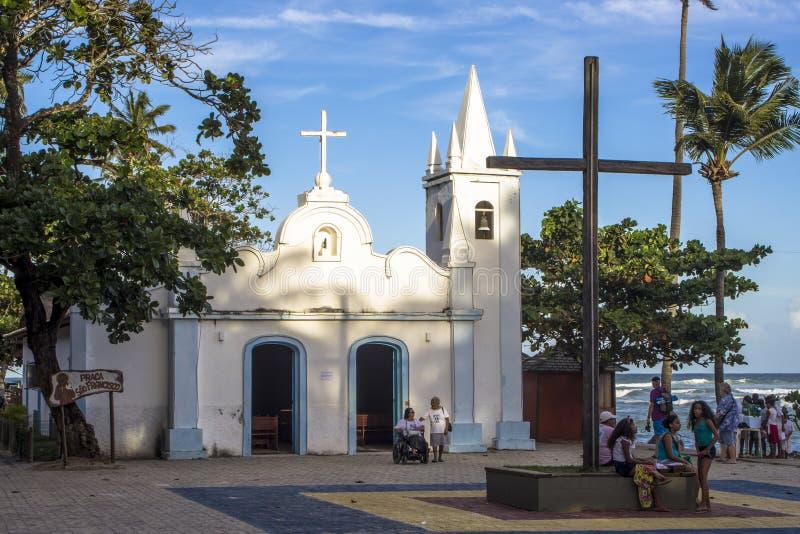 Kapelle von St Francis von Assis, gelegen in Porto-Strand lizenzfreie stockfotos