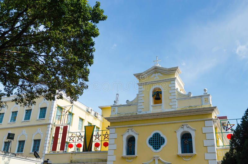 Kapelle von St Francis Xavier in Macao-Porzellan stockfotos