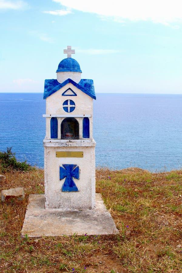 Kapellen-Ägäisches Meer, Griechenland stockbilder