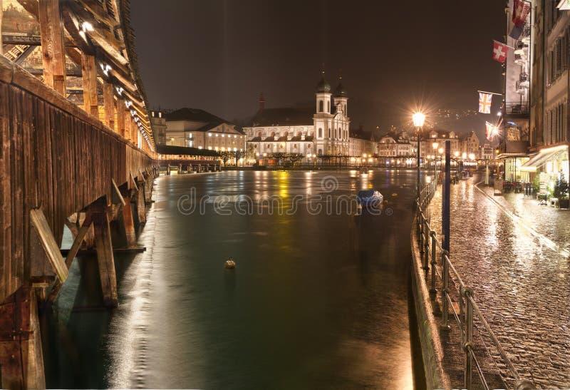 Kapellen-Brücke, Luzerne, die Schweiz stockbild
