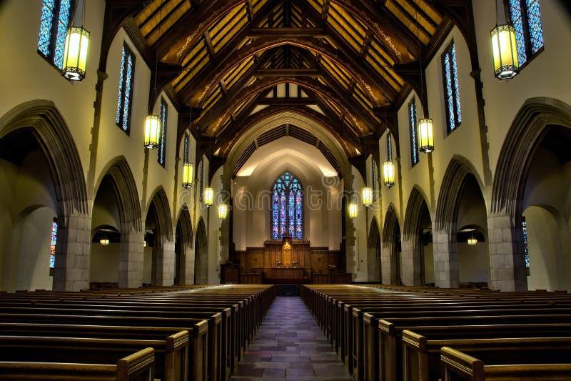 Kapellen-Innenraum stockfotos