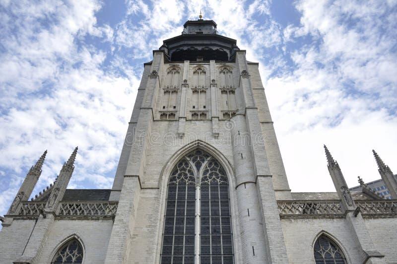 Kapellen-Kirche (Notre-Dame de la Chapelle), Brüssel, Belgien stockfotos