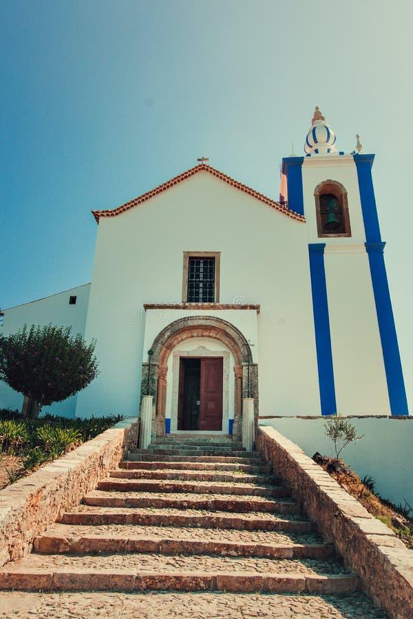 Kapellet av slotten av Torres Vedras arkivfoton
