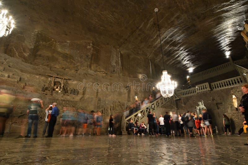 Kapellet av St Kinga bryta den salt wieliczkaen poland royaltyfri foto