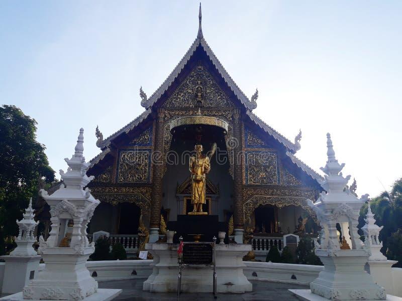 Kapellet av templet i Chiang Mai, Thailand fotografering för bildbyråer