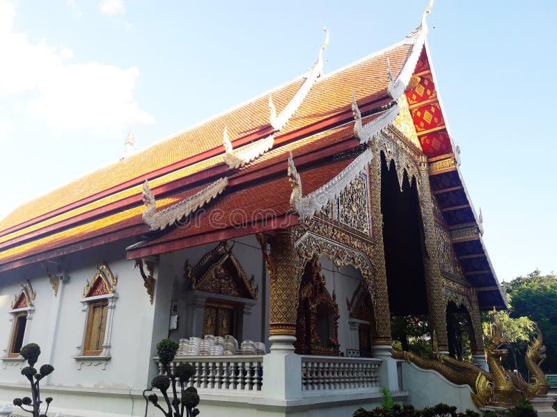 Kapellet av templet i Chiang Mai, Thailand arkivfoto