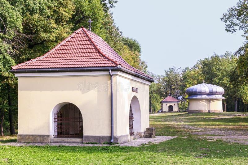 Kapels van Manier van Kruis in Kalwaria Zebrzydowska, Polen stock afbeeldingen