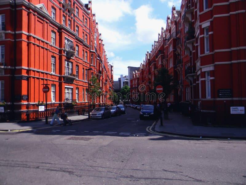 Kapelstraat stock afbeelding