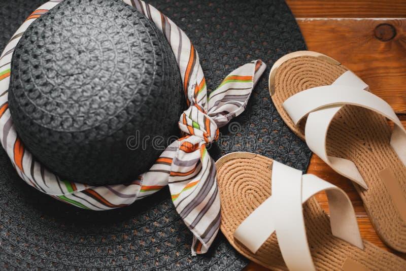kapelusz i lata trzepnięcia klapy fotografia stock