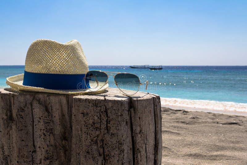 Kapelusz i okulary przeciwsłoneczne obrazy stock