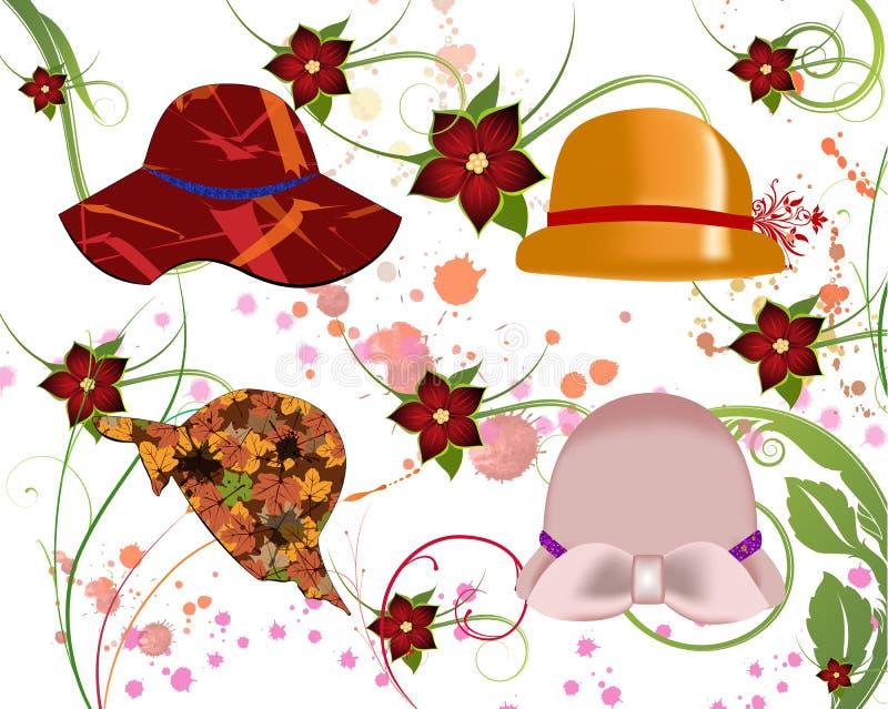 kapelusz kobiety ilustracja wektor