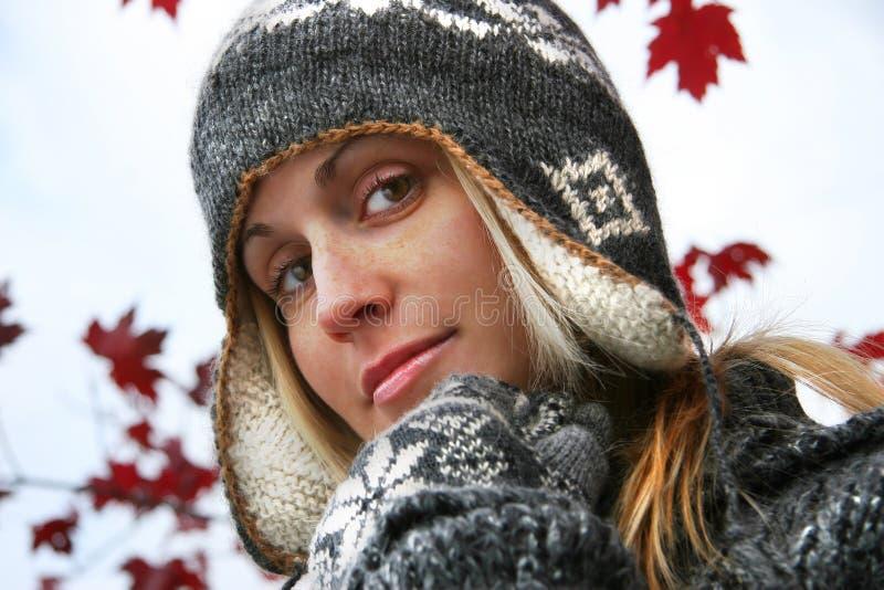 kapelusz zimy kobiety young obraz royalty free