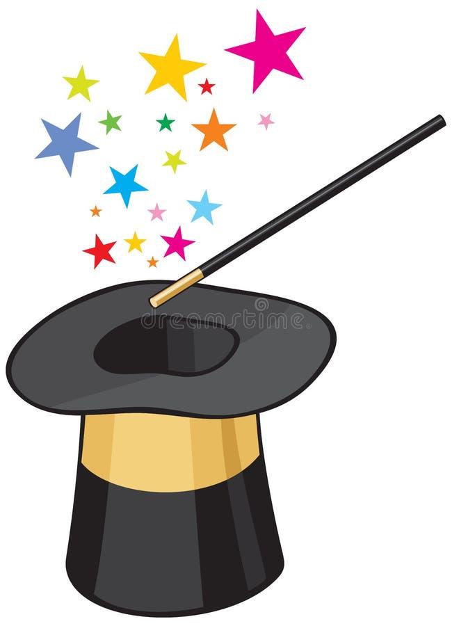 kapeluszowa magia ilustracja wektor
