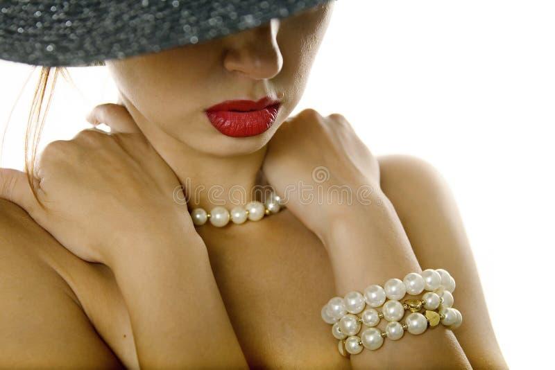 kapeluszowa seksowna kobieta fotografia stock