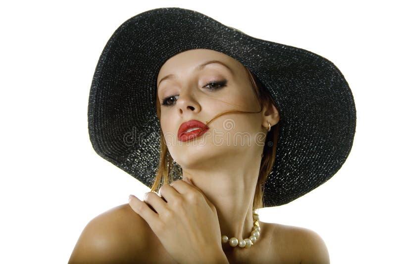 kapeluszowa seksowna kobieta zdjęcie royalty free