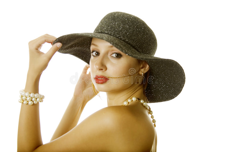 kapeluszowa seksowna kobieta obraz royalty free