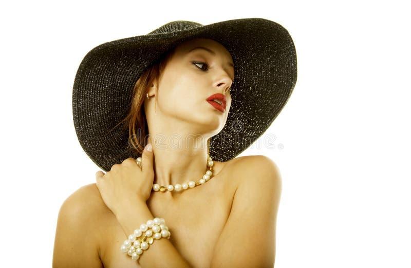 kapeluszowa seksowna kobieta fotografia royalty free