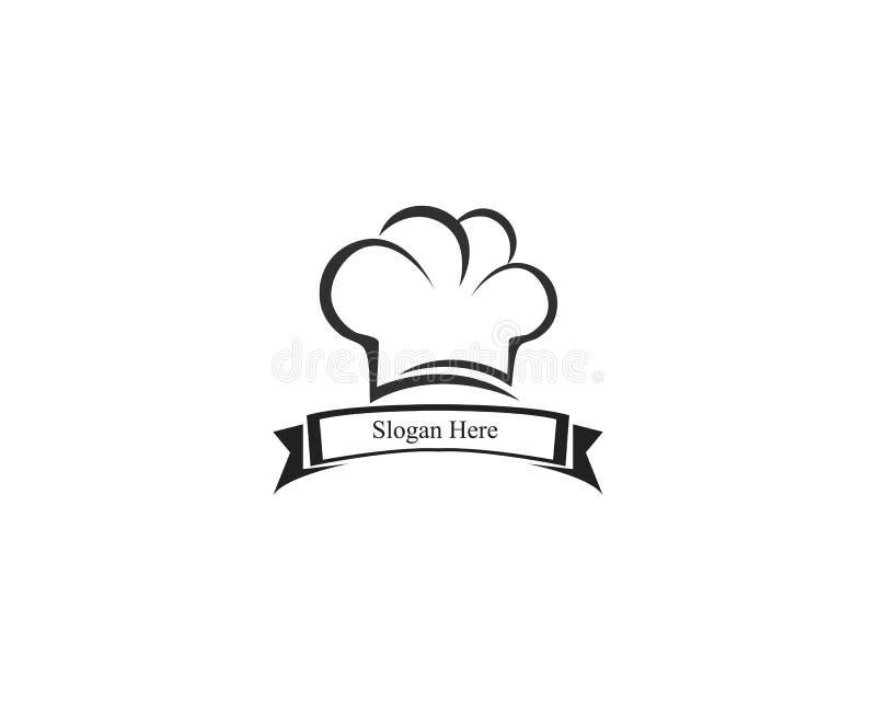 kapeluszowa szefa kuchni loga szablonu wektoru ilustracja ilustracji