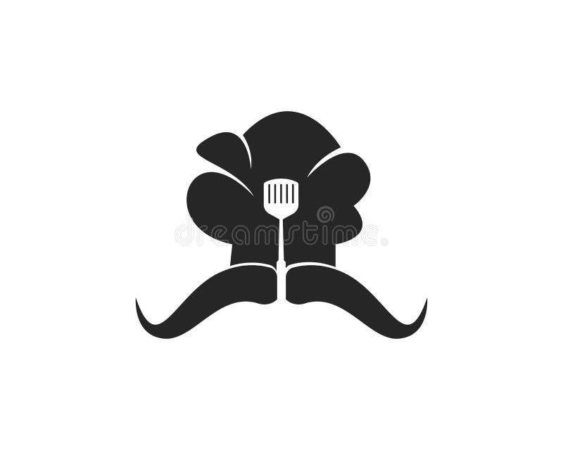 Kapeluszowej szefa kuchni loga szablonu wektorowej ikony ilustracyjny projekt ilustracji